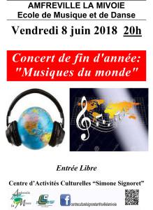 Affiche Musique du monde 2018