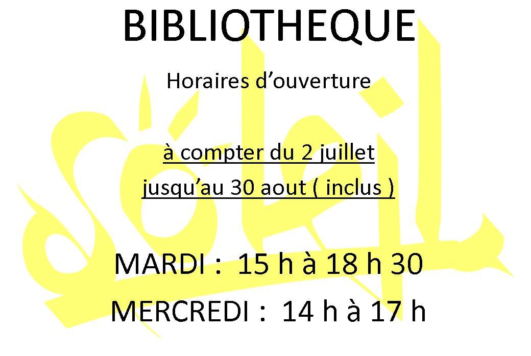 Horaires Bibli