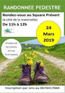 Affiche randonnée mars 2019