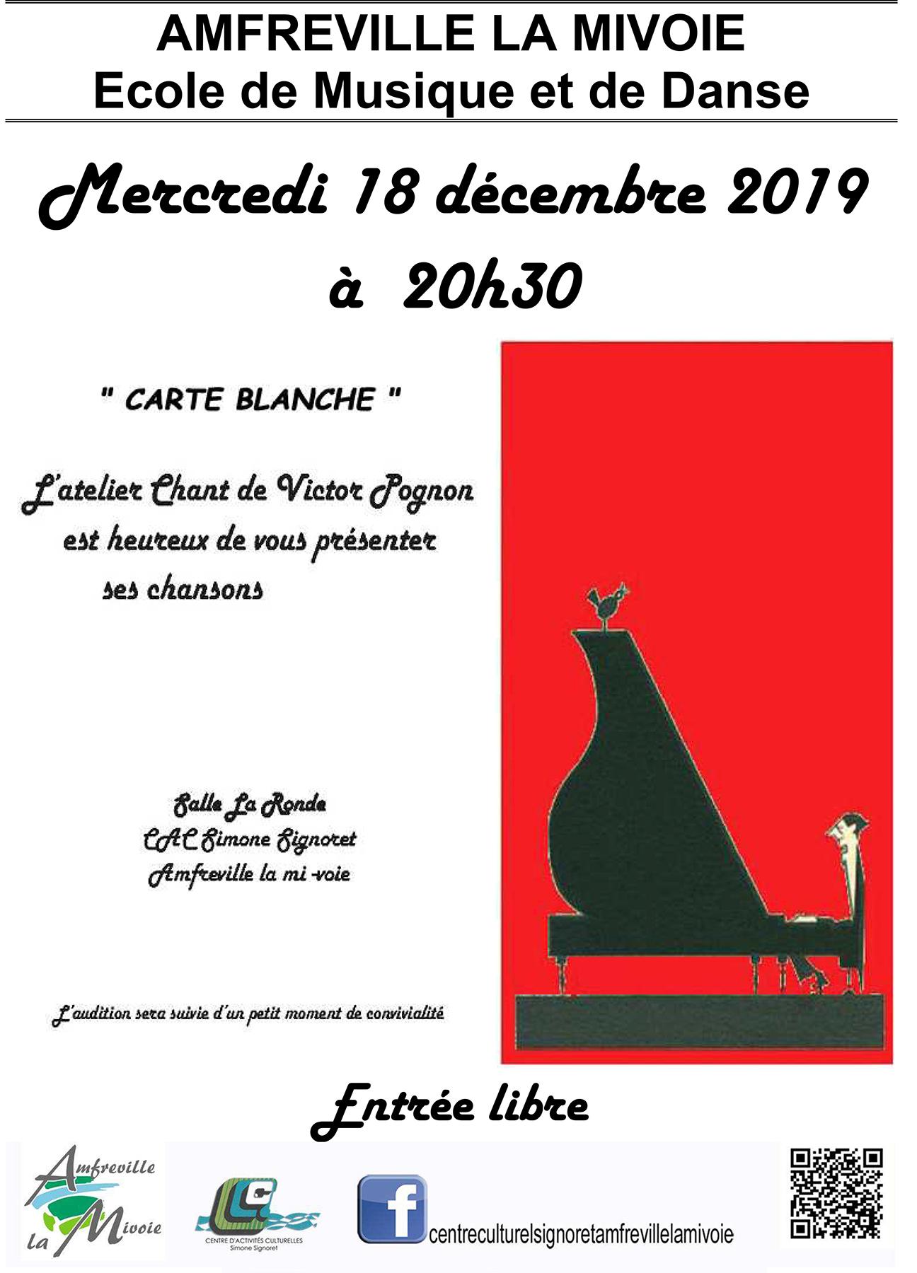 Affiche Atelier Chant 18 décembre