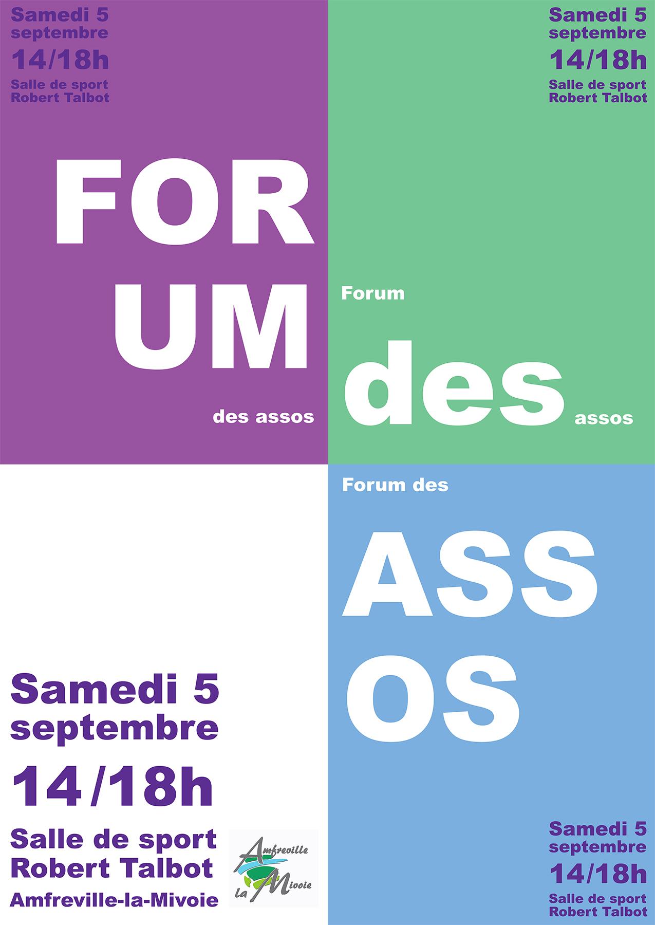 Affiche forum mauve